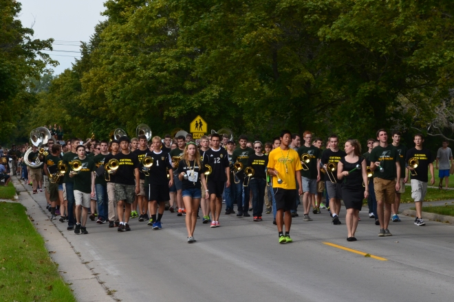 DHS Charger Marching Band marches in the Homecoming Parade 9/24/15
