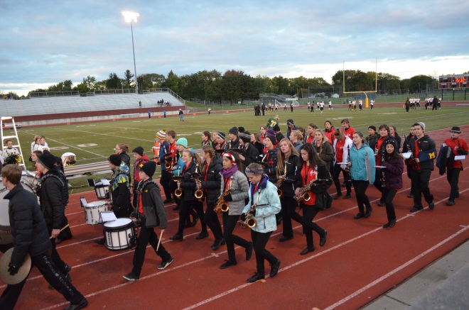 DHS Marching Band joined by Jefferson 8th graders