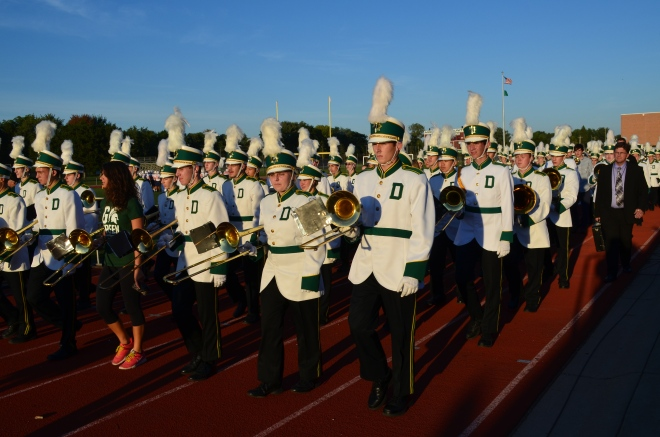 DHS Charger Marching Band with Alumni at Homecoming game 9/25/15