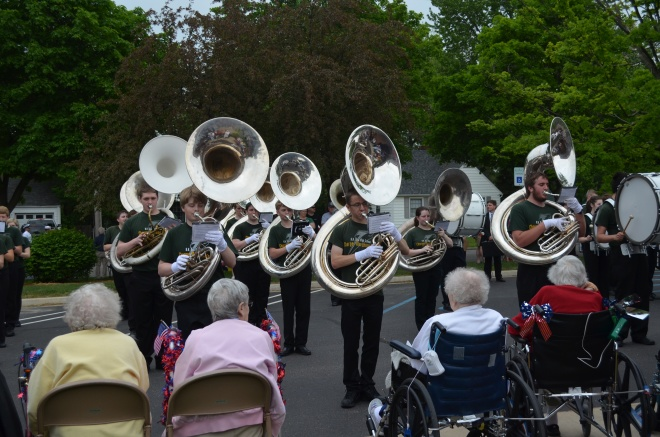 Memorial Day Parade ends with a performance at King's Daughters Home